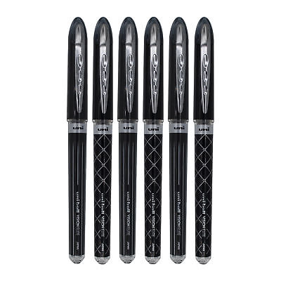 Uni-ball Vision Elite Designer Rollerball Pens, Bold Point 0.8mm, Black, 6 Count