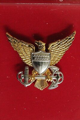 Uscg Us Coast Guard Reduced Size All O1 - O10 Officer Ranks Garrison Cap Badge