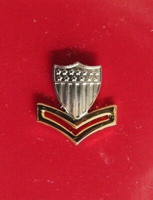 Uscg Us Coast Guard Reduced Size E-5 Po2 2Nd Cl Petty Officer Garrison Cap Badge