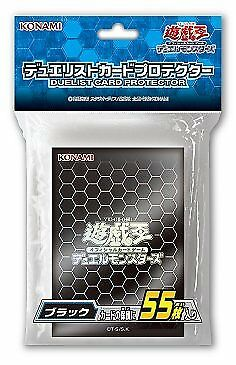 F/S  Yugioh Official Card Sleeve Protector  55 pcs Konami blue black red silver