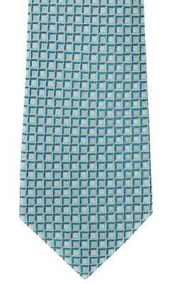 Michelsons of London Graphic Geo Silk Tie - Teal