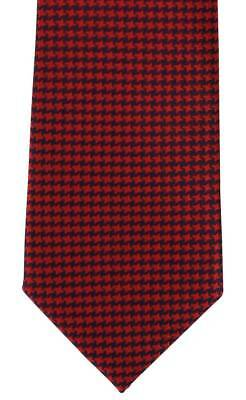 Michelsons of London Bold Dogtooth Silk Tie - Red