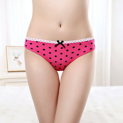 Hot girl Underwear Dot Print Women Lingerie Hipster Cute Bow Cotton Sexy Panties