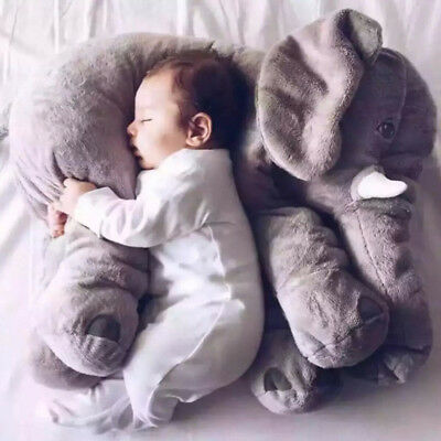 Cute Elephant Doll Baby Sleeping Soft Lumbar Plush Stuffed Pillow Birthday Toy