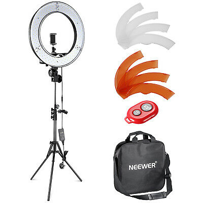 "Neewer 14""/36cm Outer LED Ring Light Kit with Light Stand and 2 Color Filters"