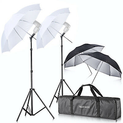 Neewer Off Camera Double Speedlight Flash ShoeMount Swivel Soft Umbrella Kit