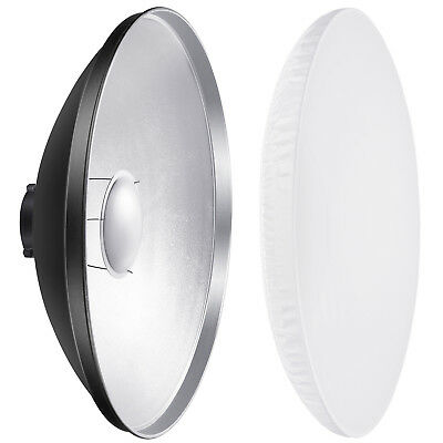 """Neewer 16"""" Aluminum Standard Reflector Beauty Dish with White Diffuser Sock"""