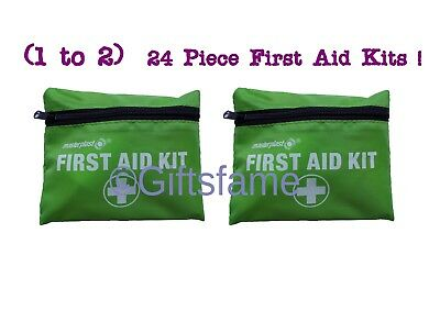 2 X 24 Piece Compact First Aid Belt Medical Kit Small Travel Sports Home Car