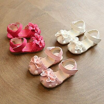 Baby Children Girl Wedding Party Princess Shoes Strap Bow Sandals Sneaker Casual