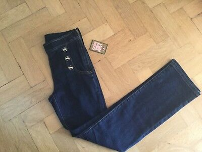 NWT Juicy Couture New & Genuine Girls Age 10 Blue Denim Jeans With Crown Logos