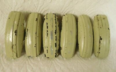 Vintage Lot 6 Metal Cabinet Drawer Door Pulls For Furniture 3