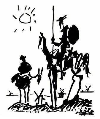 DON QUIXOTE by Pablo Picasso - Matt, Glossy, Canvas Paper A4 or A3