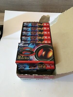 Box Of 10 Maxell 8mm Video Cassette TTE HGX Metal 90 Perfect For Camcorder Tapes