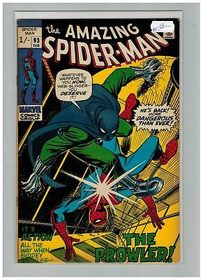 Amazing Spider-man (1963) #  93 (7.5-VF-) UK PRICE VARIANT (269599)