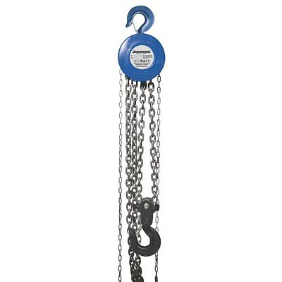 Silverline 282517 Chain Block Hoist 5 Tonne (5000kg) Capacity 3m Lifting Height