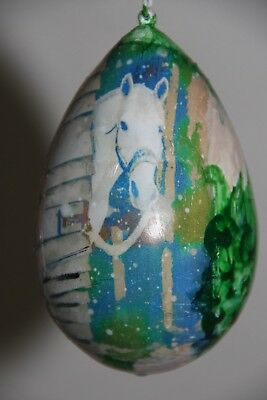 gourd Easter egg or ornament with horse