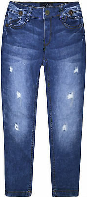 Girls Stretchy Denim Jeans Kids Ripped Skinny Pants Trousers Age 3 4 5 6 7 8 9 Y