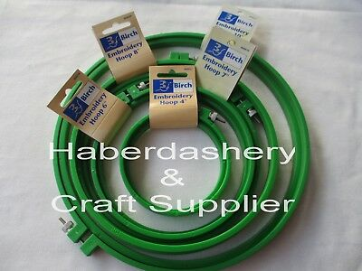 Embroidery Hoops X 5 Plastic With Screw*green