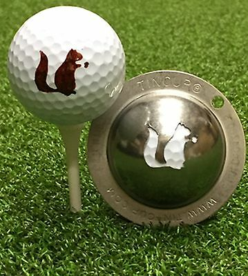 1 only TIN CUP GOLF BALL MARKER - GO NUTS  EASY TO DO & Yours For Life