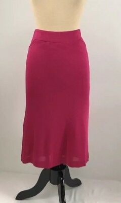 45ae09aed9 Missoni Italy Size 48 Hot Pink Pencil Skirt 12 US Pleats In Back Lined Back  Zip