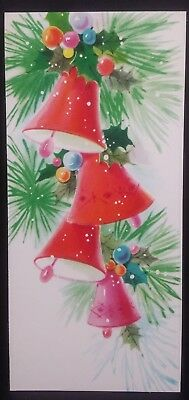 Vintage american greetings used christmas card christmas tree vintage american greetings used christmas card bells decorations m4hsunfo