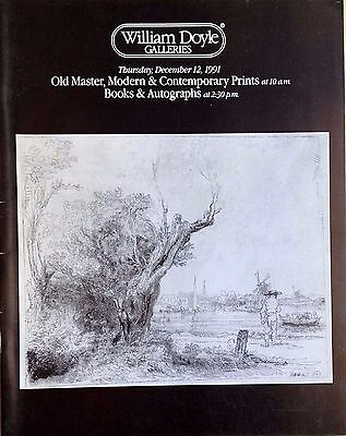 William Doyle Catalog OLD MASTER, MODERN & CONTEMPORARY PRINTS BOOKS, AUTOGRAPHS