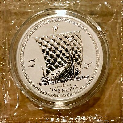 2017 Isle Of Man Noble Silver Coin 1 oz .999 Reverse Proof - Mint Sealed!