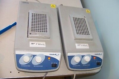 2x VWR Analog 2 Block Heaters model 12621-108 With 96 hole blocks REDUCED PRICE