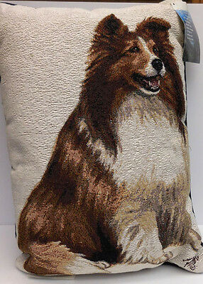 Shetland Sheepdog Throw Pillow, Polyester/cotton, Manual Woodworkers, Item 35836