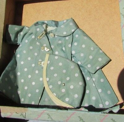 Madame Alexander Kins Doll Raincoat Hat Taffeta Box Wendy 1954 Shadow Outfit