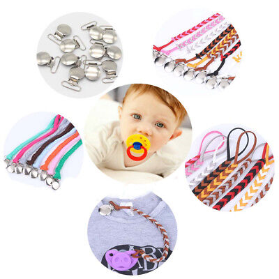 Baby Infant Silicone Teething Pacifier Clip Beads Soother Nipple Strap Chain