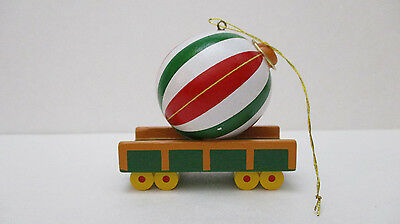 AVON Gift Collection Christmas Train Wooden Ornament  -   Car  -   NEW
