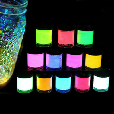 Acrylic Luminous Party DIY Bright Glow in the Dark Paint Pigment Graffiti Uz