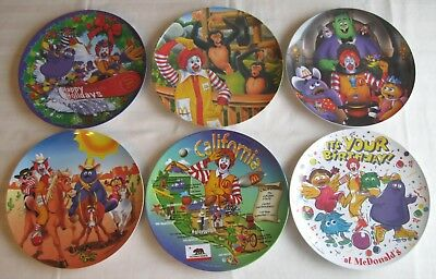 McDonald's~6 Plates~California~Birthday~Christmas~Halloween~Zoo~Western~VG/Exc