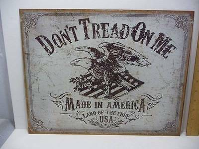 """Don't Tread On Me Made in America Tin Metal Sign 12 1/2"""" x 16"""" New"""