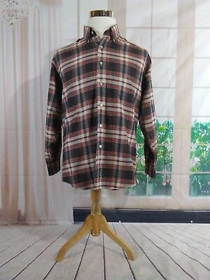 LL Bean Size Large L 16-1/2 33 Men's Dress Shirt Made In The USA