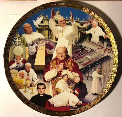 Saint Pope John Paul Ii Deluxe Collector's Plate Catholic Spiritual Danbury Mint