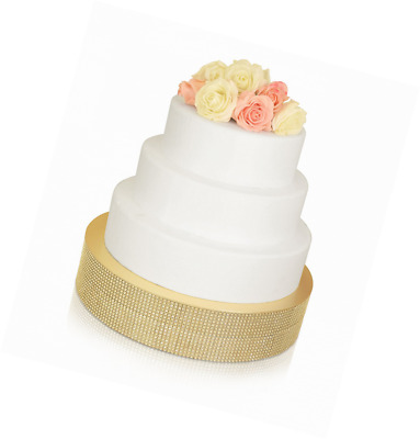 BLING WEDDING Cake Stand / Drum (14\'\' Square Soft Gold) 14 ...