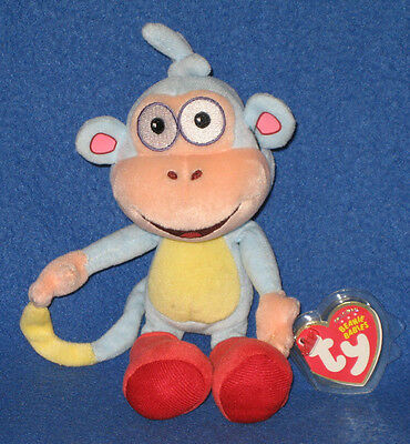 TY BOOTS the MONKEY (DORA the EXPLORER)  BEANIE BABY - MINT with MINT TAGS