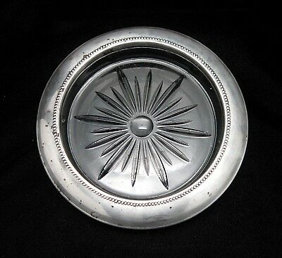 Vtg Frank M Whiting Sterling Silver Glass Wine Bottle Coaster