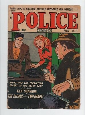 Police Comics #114 (Apr 1952, Quality Comics) gd+