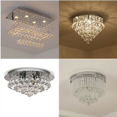 Crystal Chandelier Modern Ceiling Living Room Villa Pendant Light Fixture Lamp