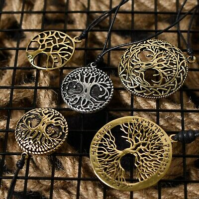 Tree of Life Silver Pewter Gold Brass Charm Necklace Pendant Jewelry