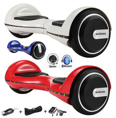 "6,5"" LED Bluetooth Self Balacing Hoverboard E-Scooter with Remote Control Bag"