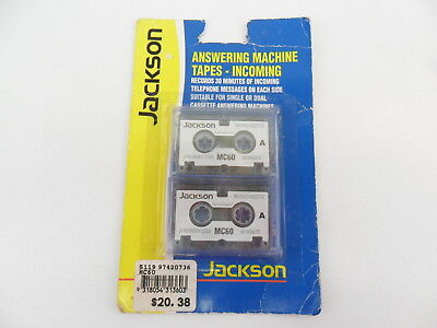 Jackson Mc 60 Microcassette Answering Machine Tapes - Incoming 2 Cassettes New
