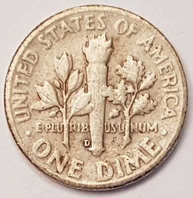 1954-D U.S.A Roosevelt One Dime coin