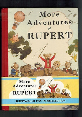 RUPERT ANNUAL 1937 FACSIMILE with wrap round band