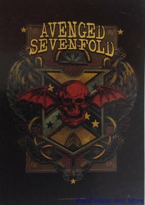 "AVENGED SEVENFOLD Rock flag/ Tapestry/ Fabric Poster  ""Death Crest""     NEW"