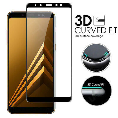 Samsung Galaxy A9/A6/A7/A8 Plus 2018 Full Cover Tempered Glass Screen Protector