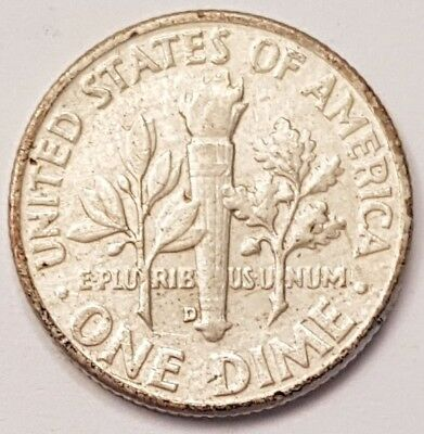 1957-D U.S.A Roosevelt One Dime coin